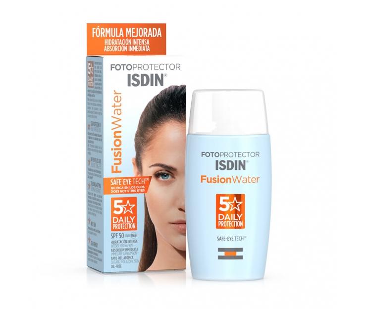 Fusion Water SPF 50+ de ISDIN, uno de los cosméticos de farmacia más vendidos.