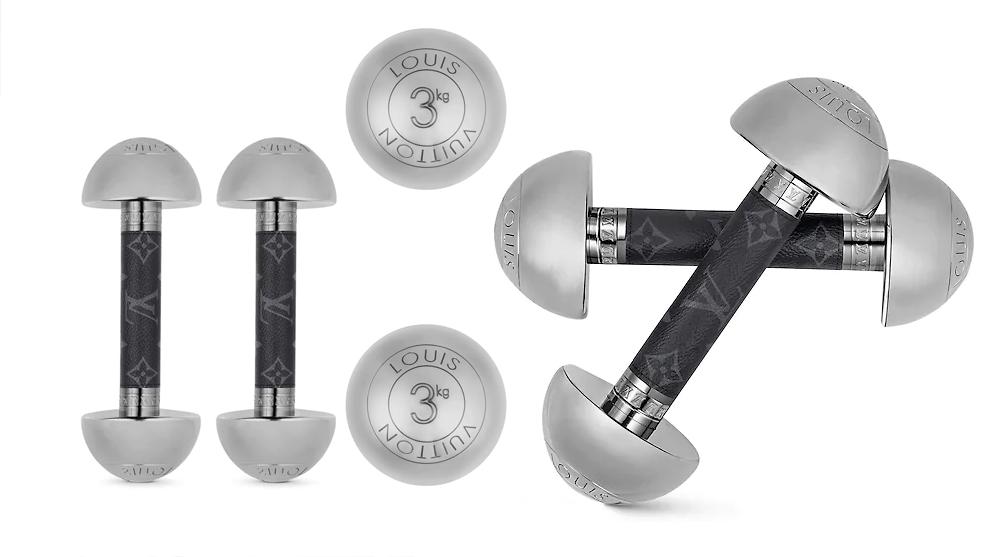 En la imagen, las pesas de Louis Vuitton. / Foto: Louis Vuitton
