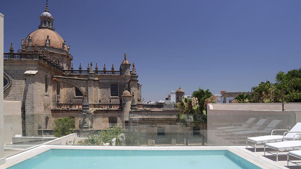 Vista de la terraza del Hotel Bodega Tío Pepe. /Foto: Cortesía del hotel.