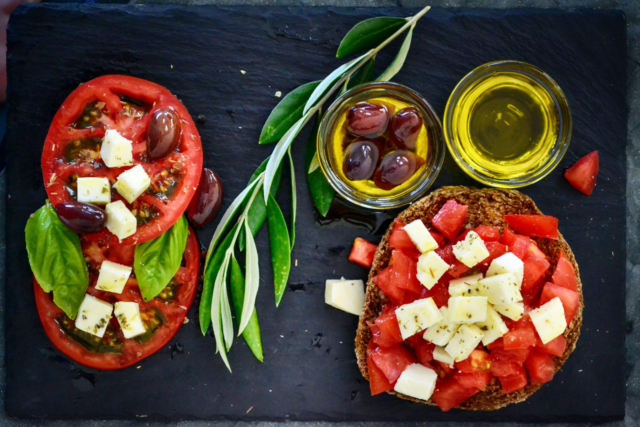 En la imagen, algunos manjares de la dieta mediterránea. / Foto: Pexels