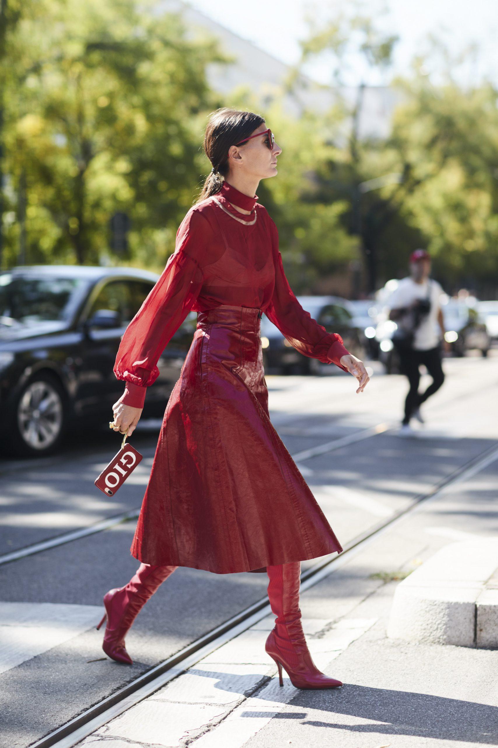 La editora de moda Giovanna Battaglia/Imaxtree.