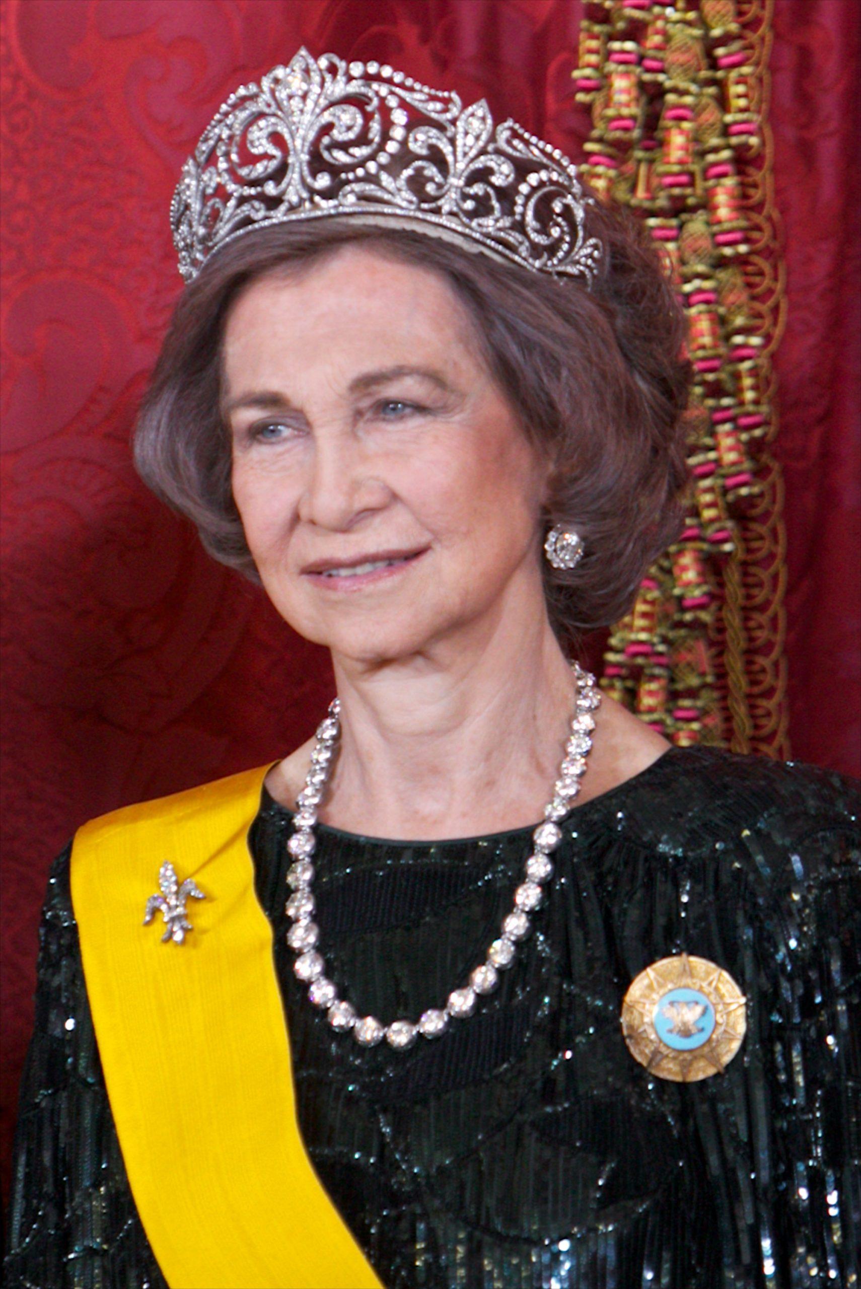 La reina Sofía con la tiara Flor de Lis/Getty Images.