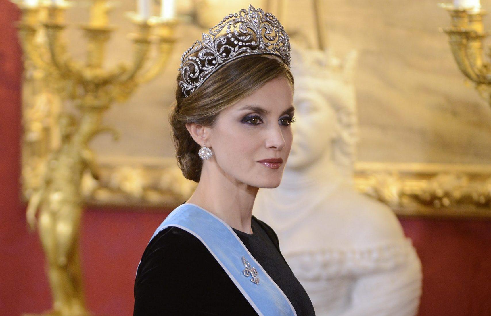 La reina Letizia con al tiara Flor de Lis