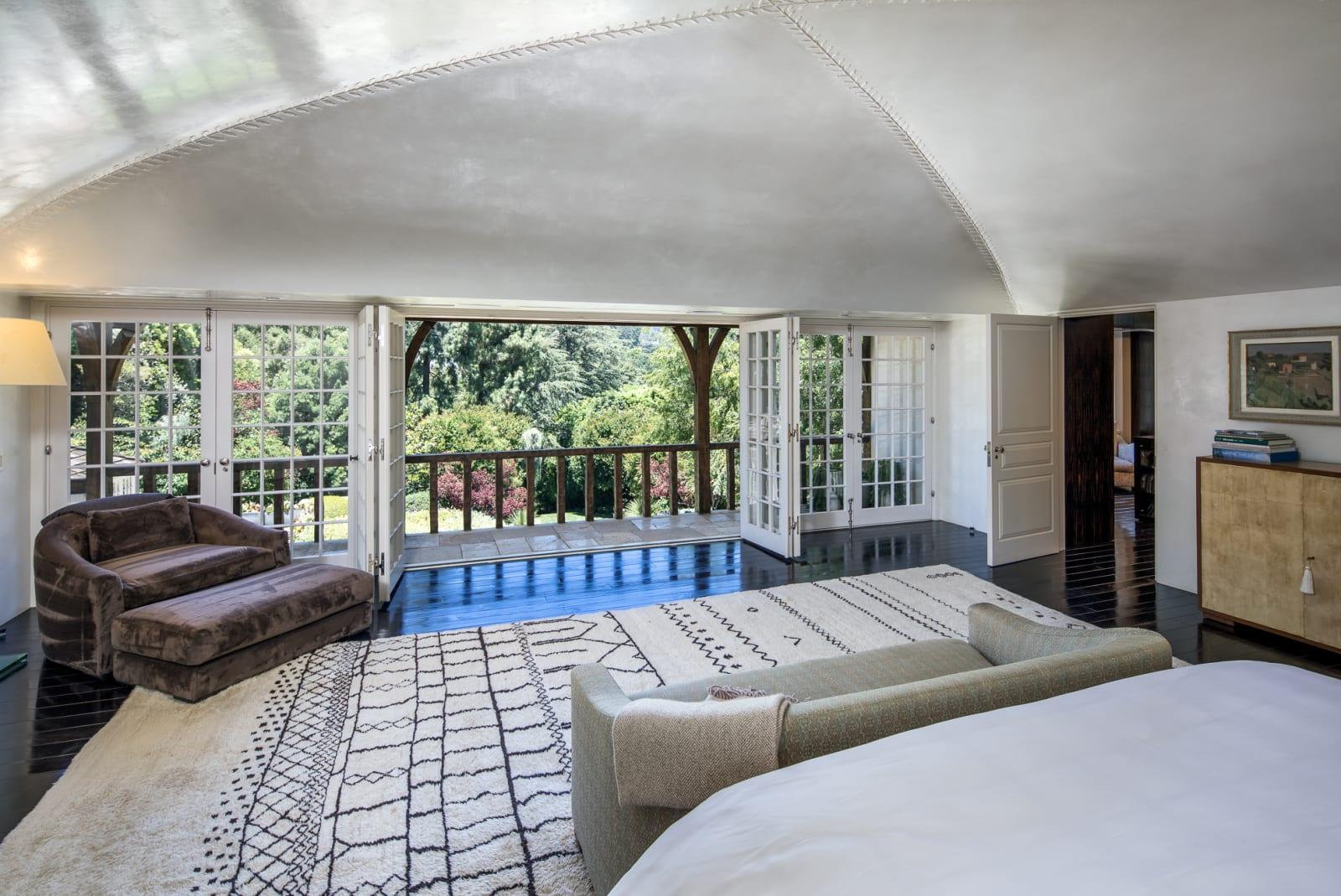 La habitación de la casa de Brad Pitt y Jennifer Aniston