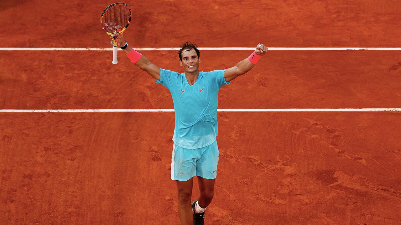 En la imagen, Rafael Nadal celebrando su victoria en el Open de Francia 2020./Foto Getty