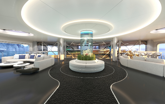 Salón futurista Thor Explore