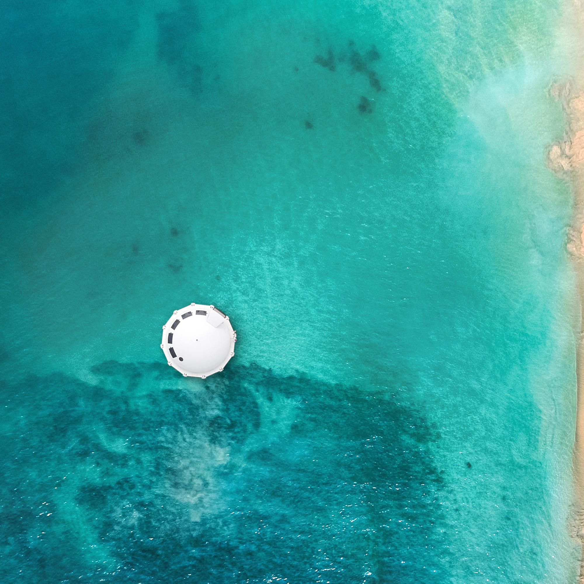 Vista panorámica de la suite flotante/Foto: Anthenea.