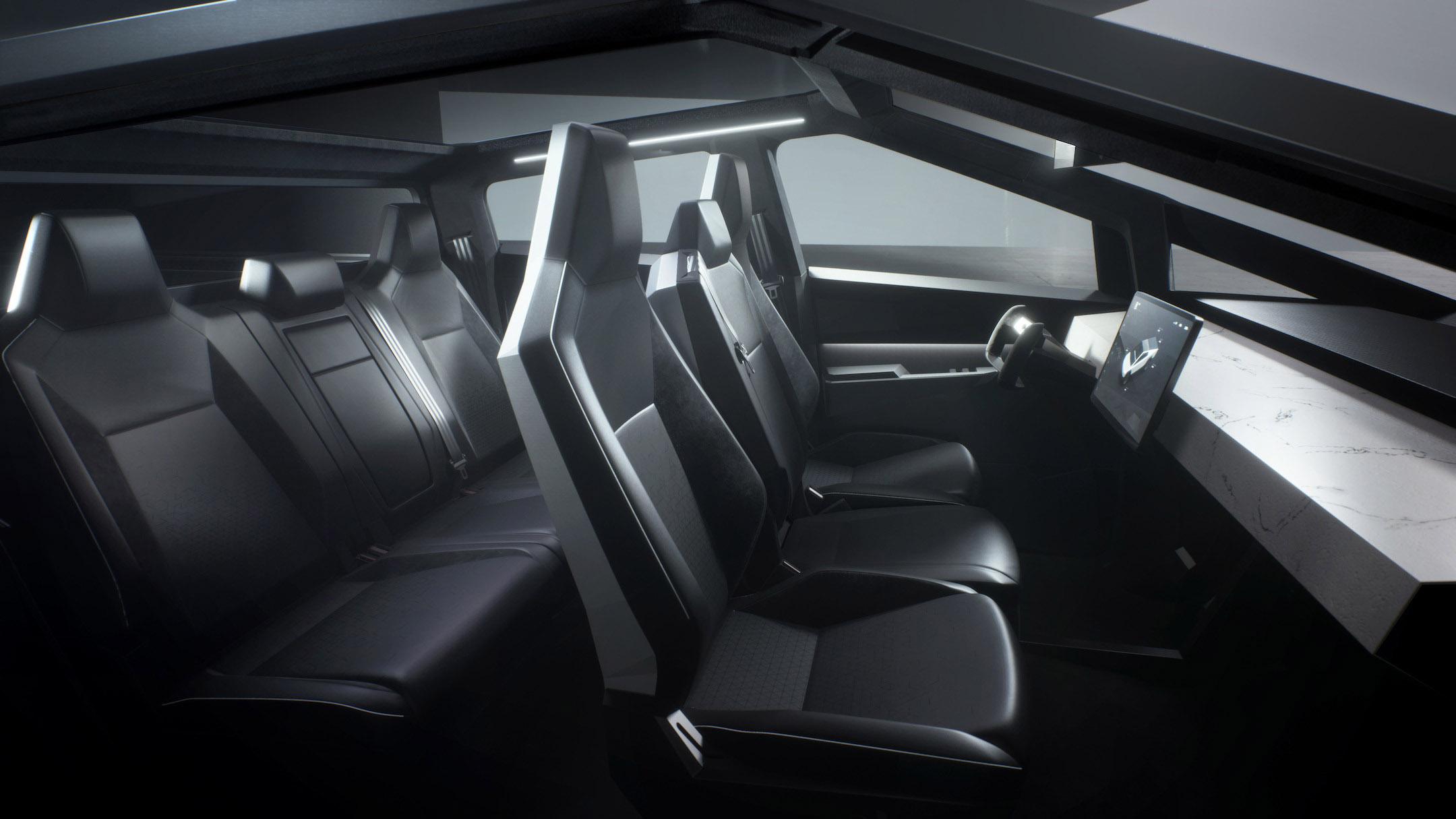 Cybertruck interior