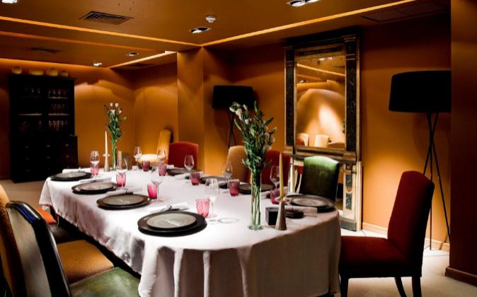 El reservado del restaurante Santceloni, Madrid