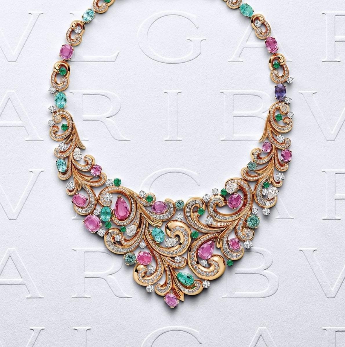 Collar Lady Arabesque de la colección Barocko de Bvlgari/Foto: Bvlgari.