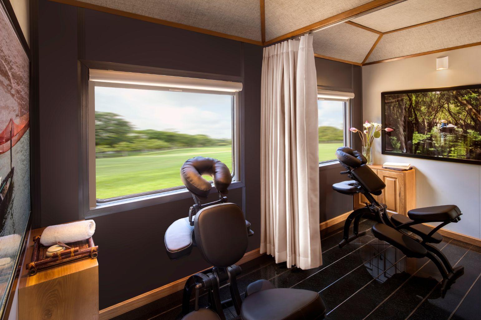 Una de las salas para relajarse en el tren de Vietage : Thevietagetrain.com