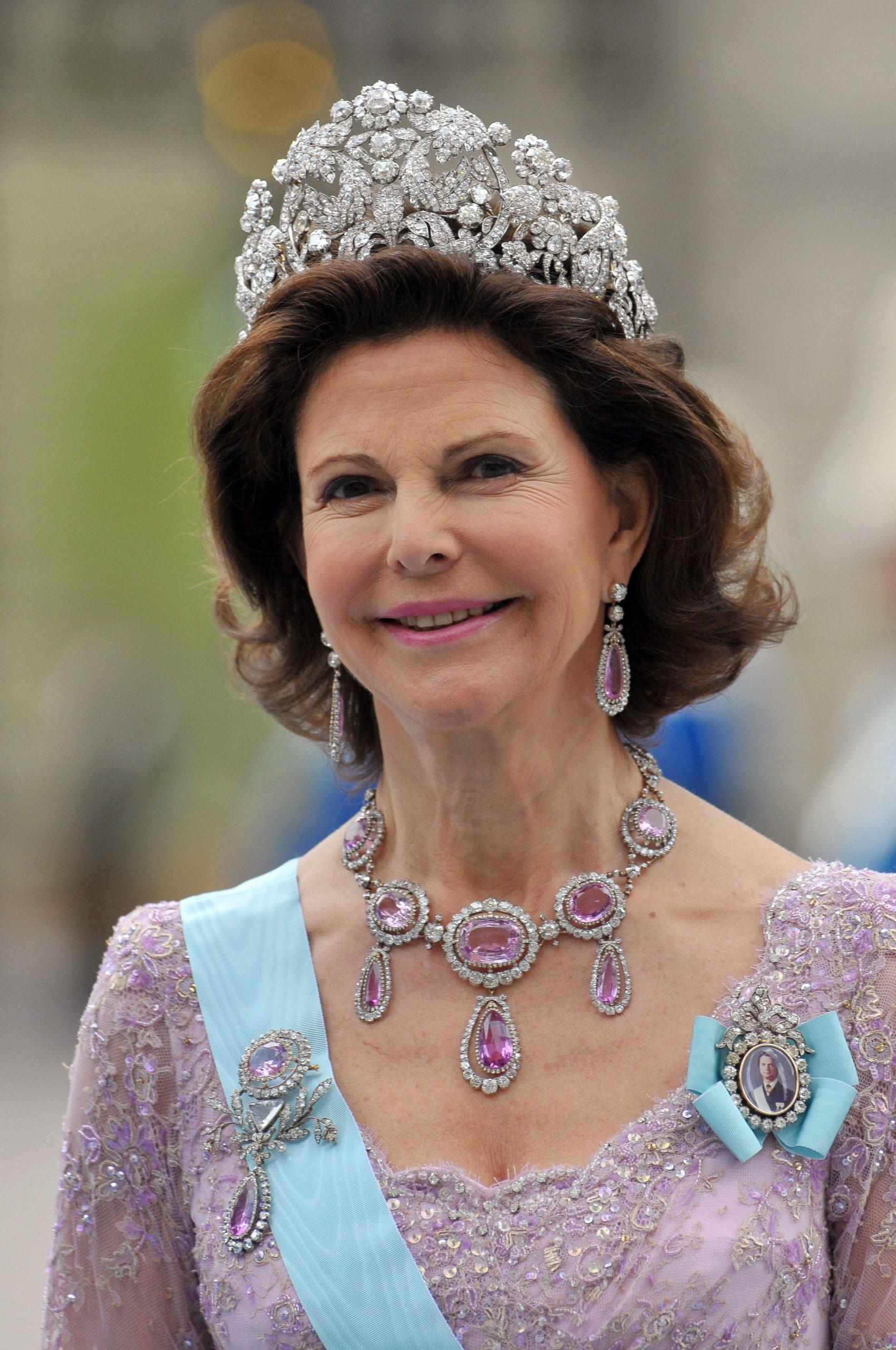 Silvia de Suecia con la tiara Braganza/Foto: Getty Images.