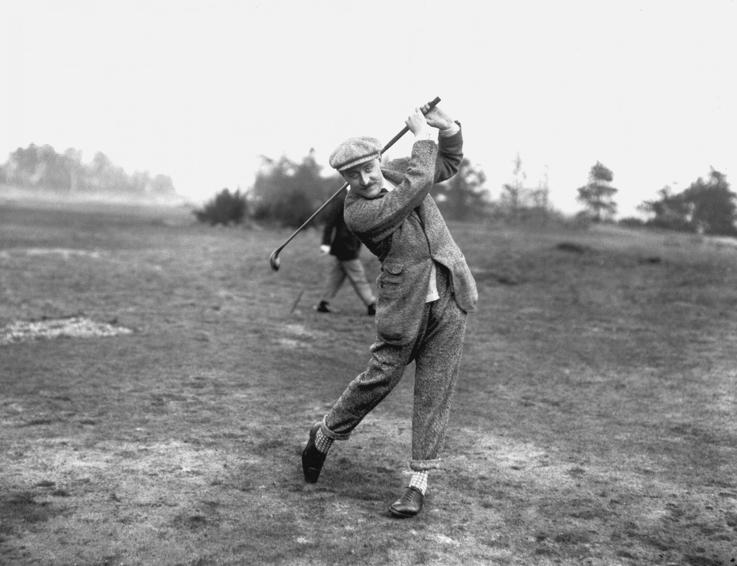 Valentine Edward Charles Browne jugando al gold en 1914./Foto: Getty