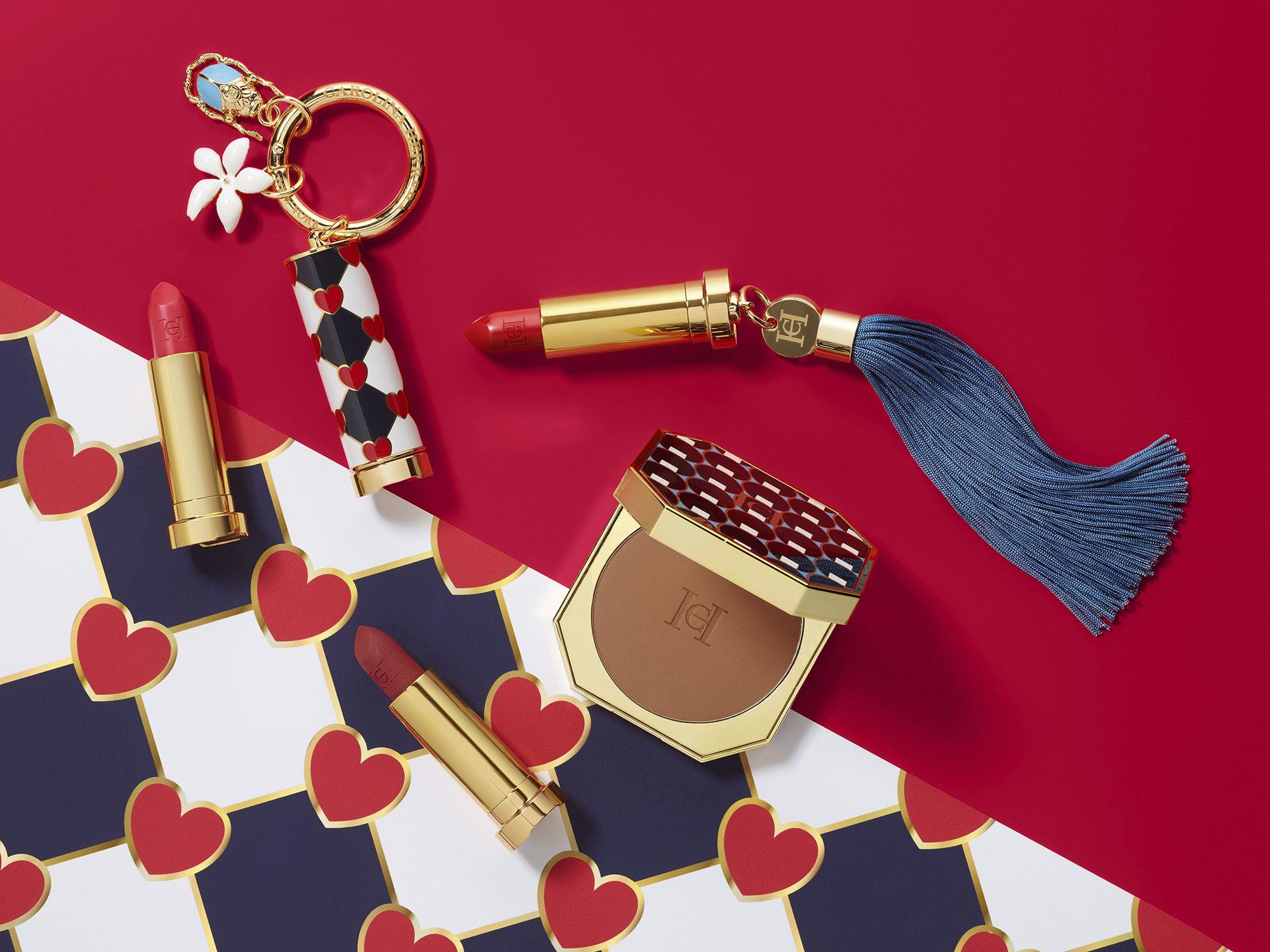 Colección de maquillaje de Carolina Herrera, cosméticos personalizables