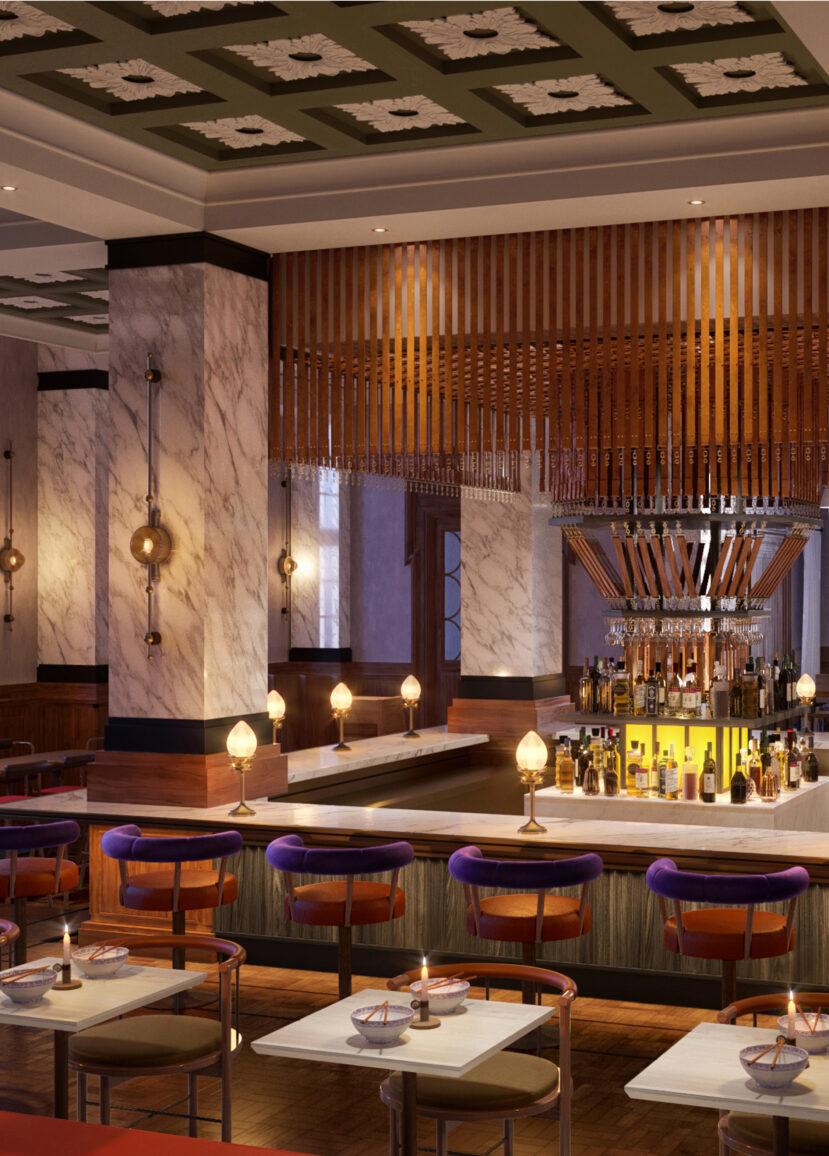 Bar del hotel Villa Copenhagen.
