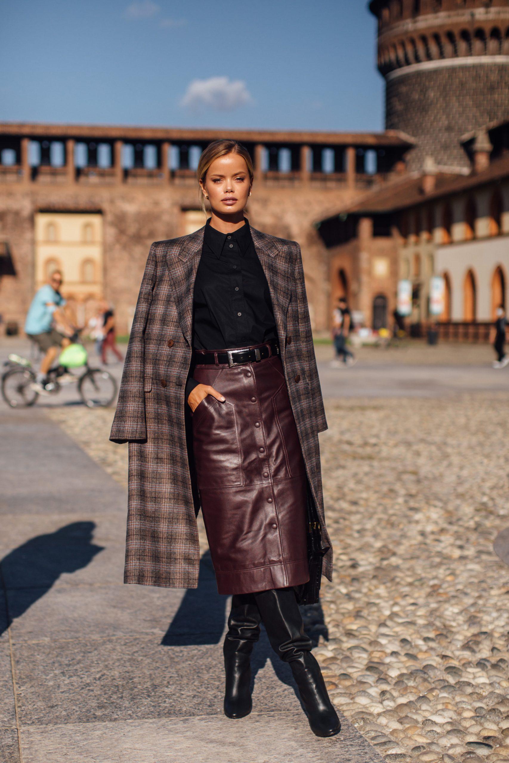 Frida Aasen en la Semana de la moda de París/Foto: Imaxtree.