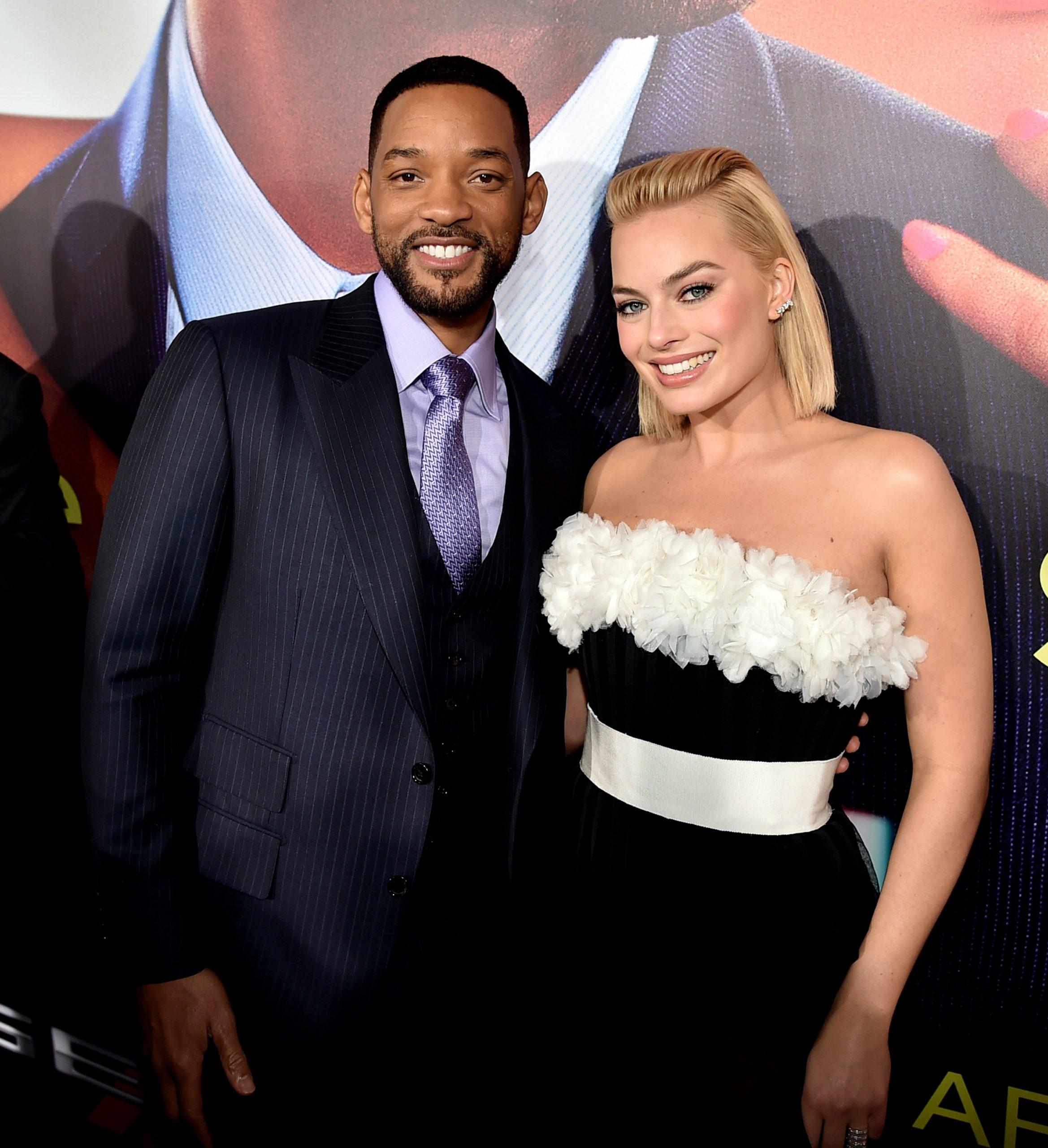 En la imagen, Margot Robbie y Will Smith en el estreno de Focus en 2015./Foto: Getty