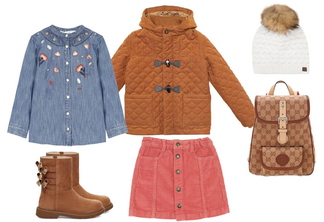 tendencias de moda infantil otoño-invierno.
