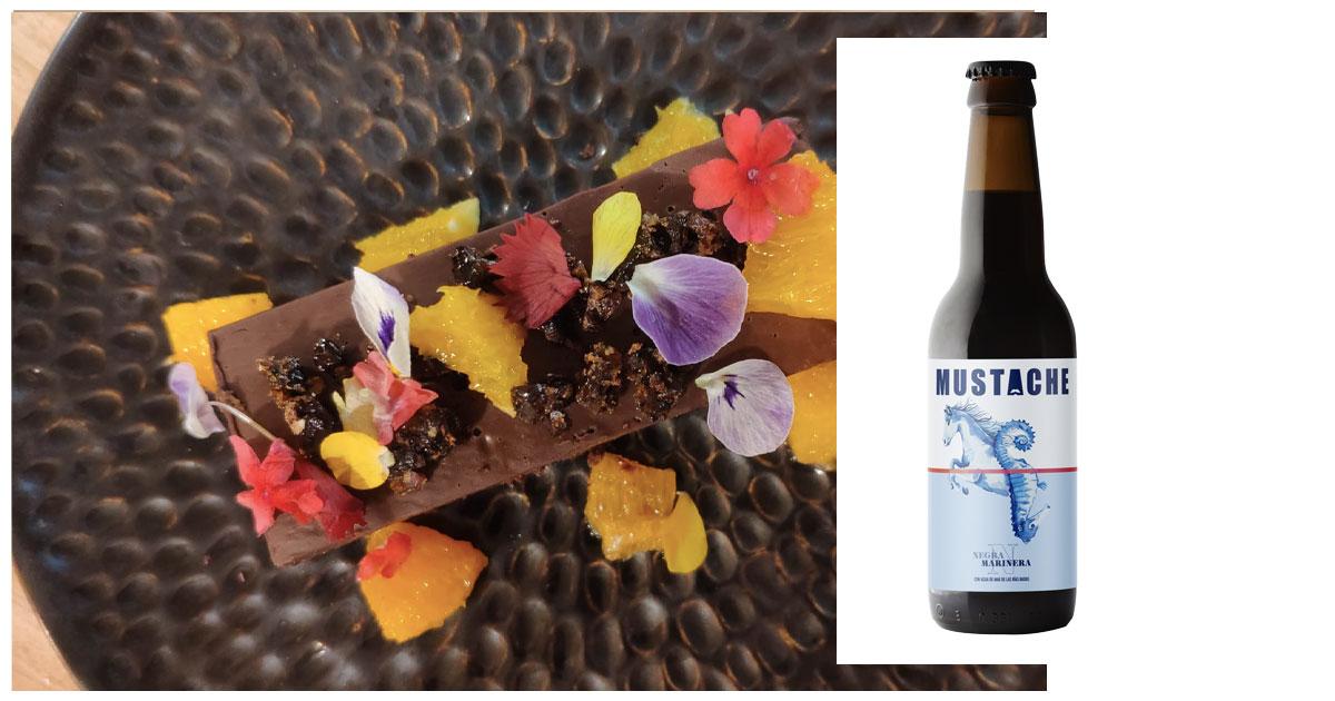 En la imagen, lingote de chocolate con cerveza negra. /Foto: Cortesía de la marca.