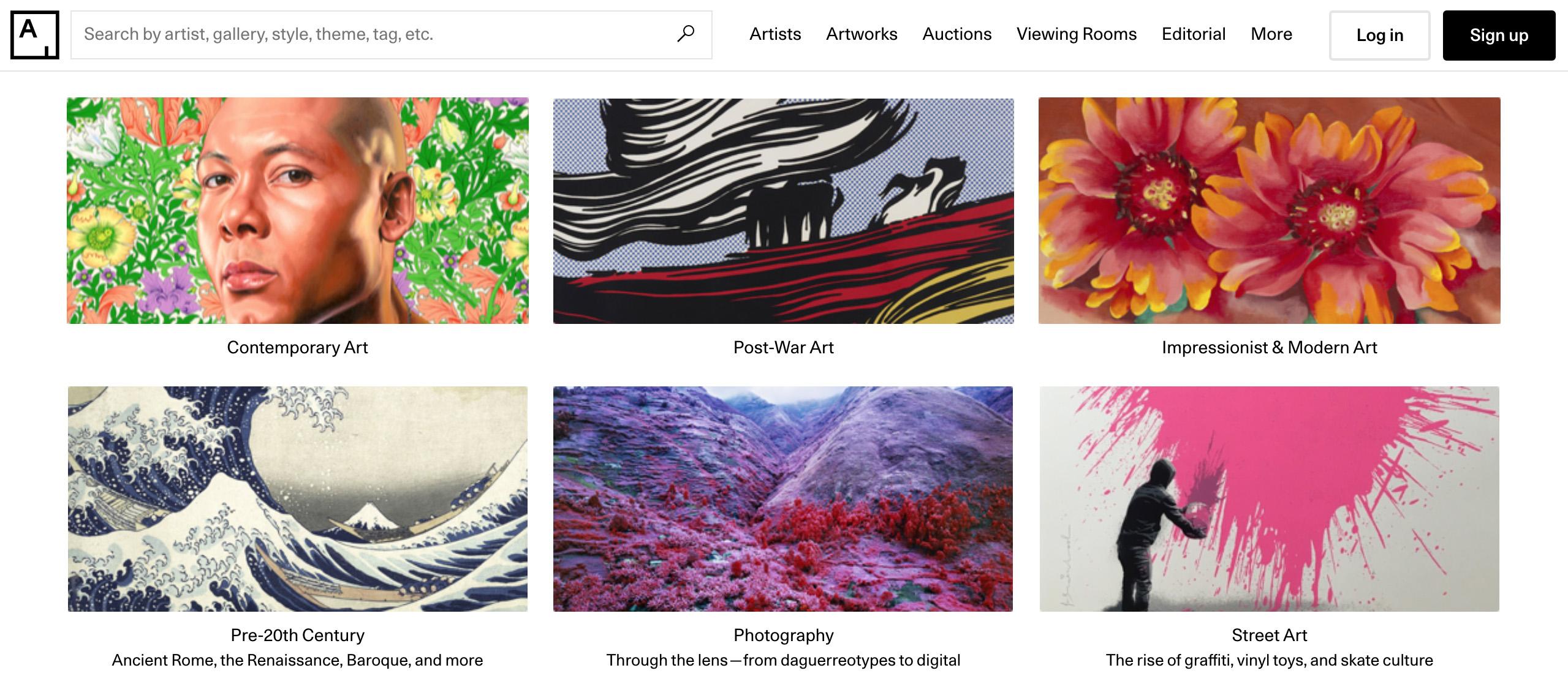 apps de arte:Artsy