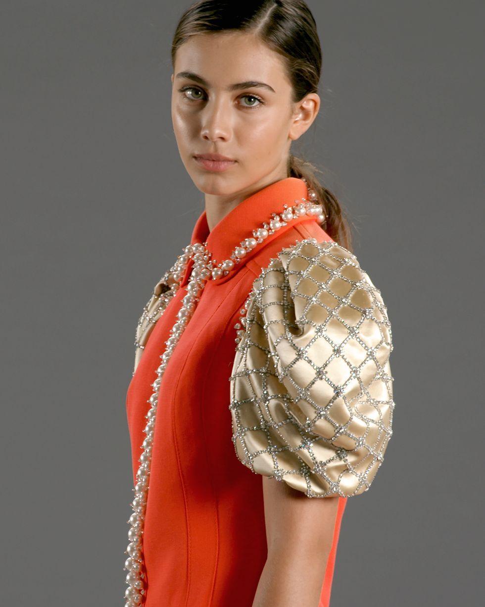 Vestido de la colección Upcycled by Miu Miu