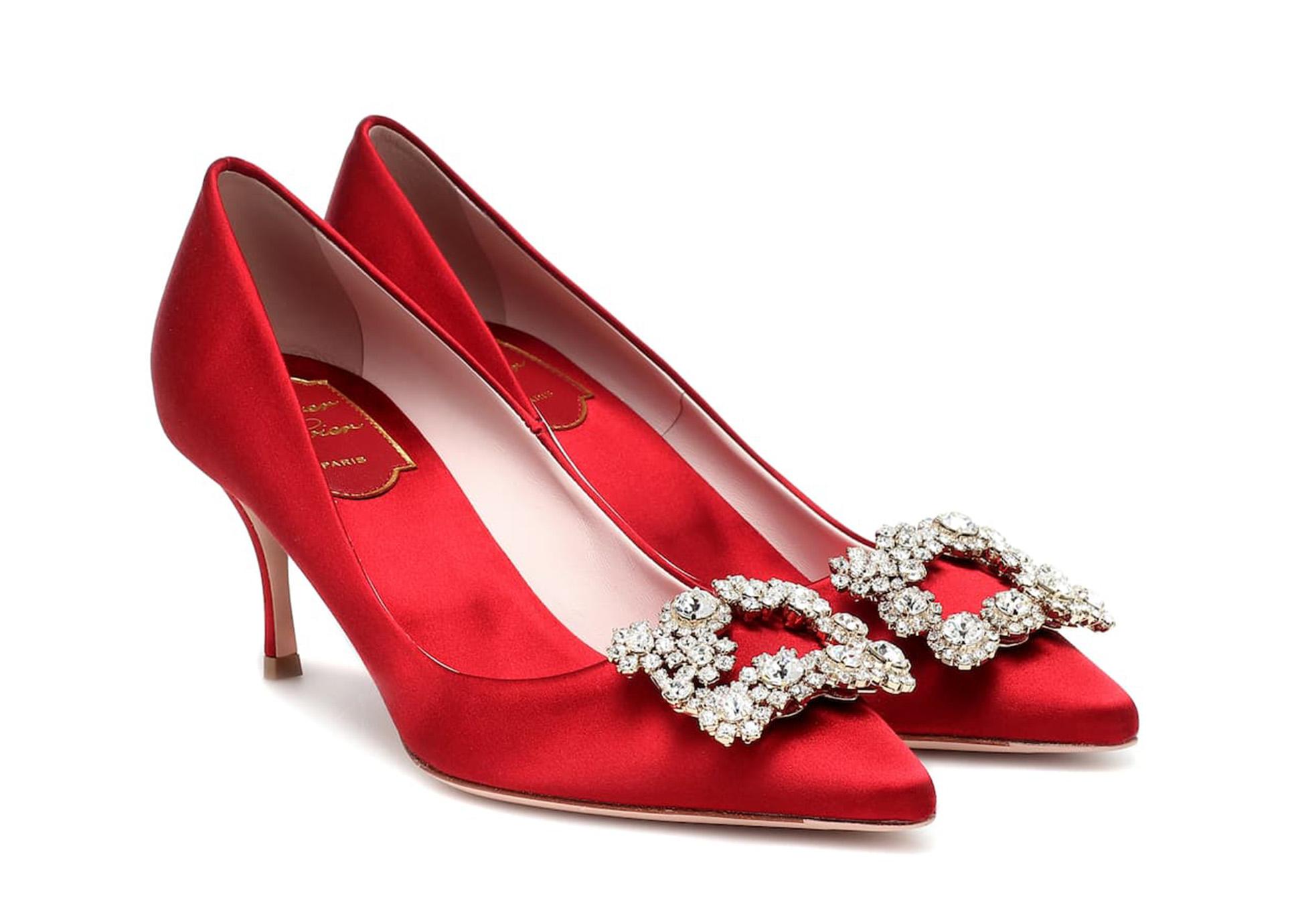 Zapatos de fiesta Flower Strass de Roger Vivierz