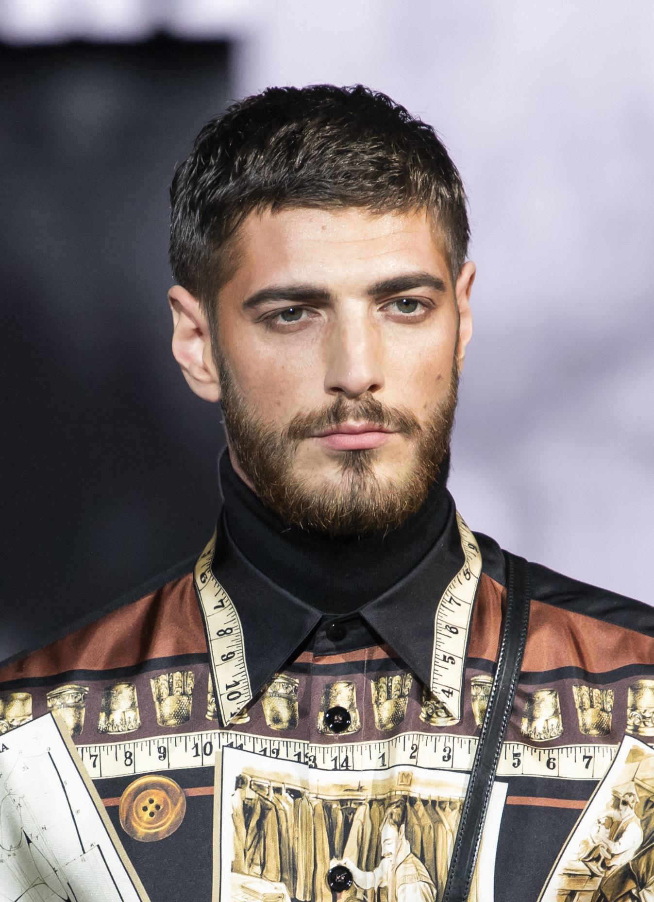 Modelo en el desfile de Dolce & Gabbana
