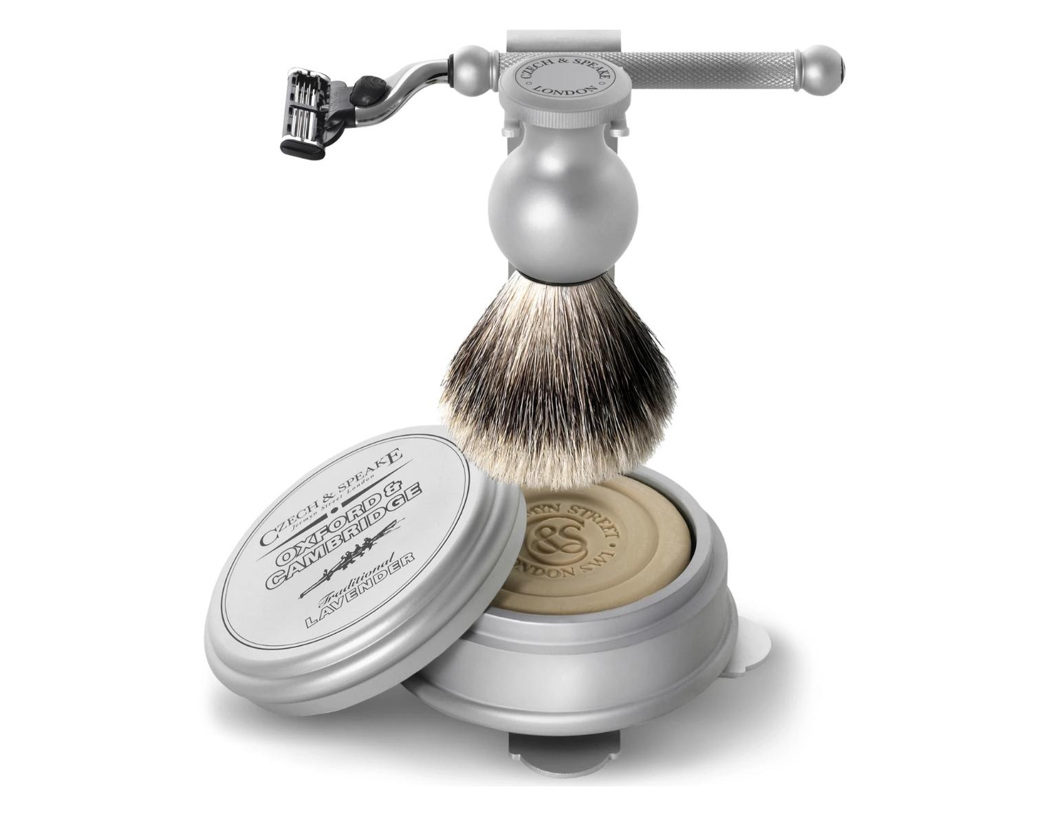 Set de afeitado de Czech & Speake.