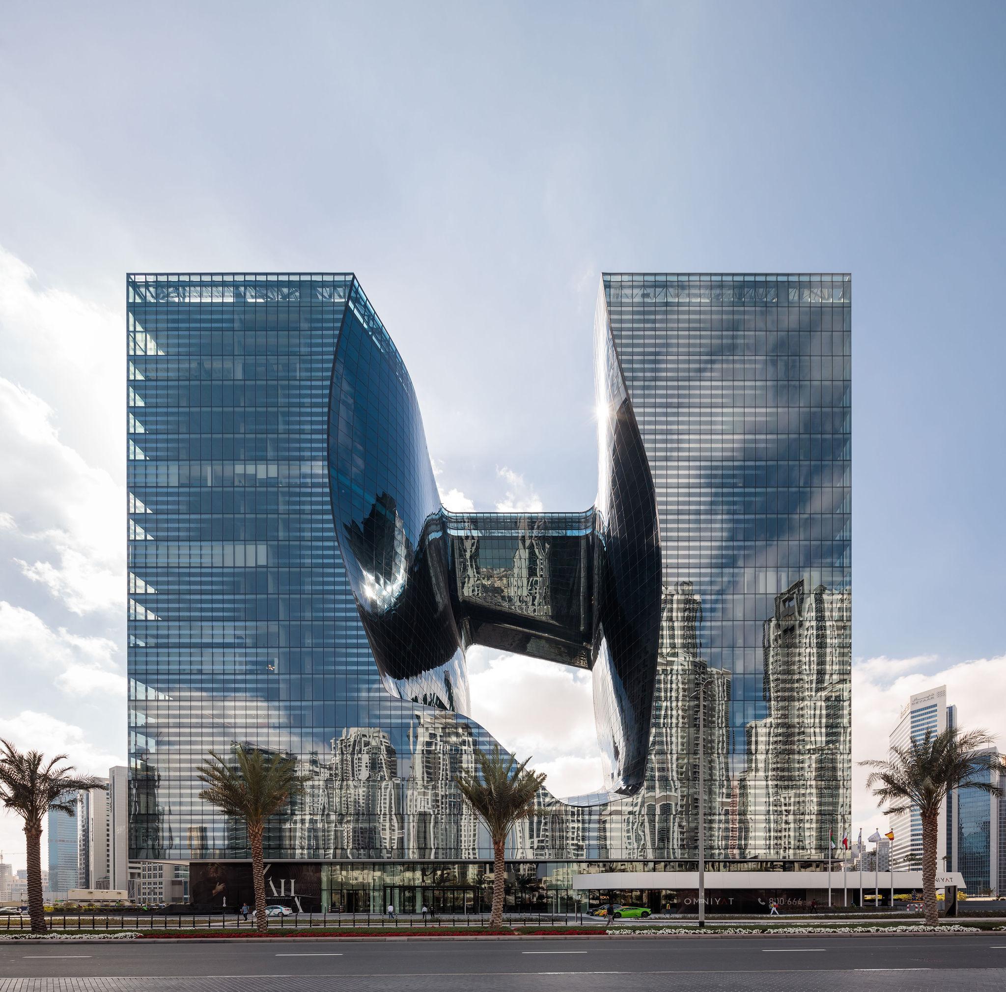 Edificio The Opus del hotel ME Dubai