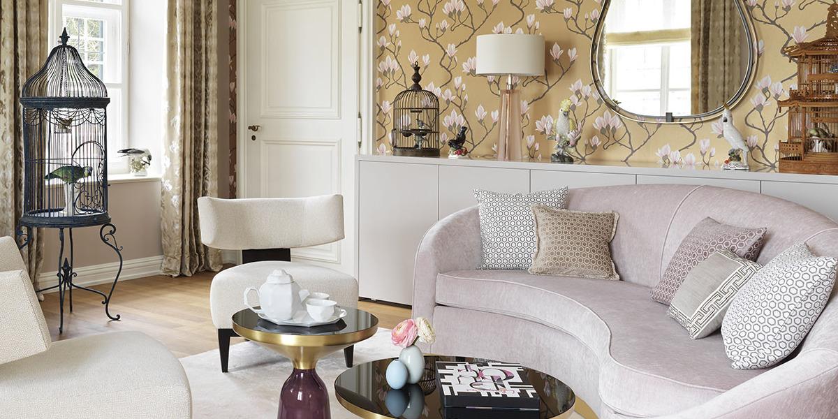 Sala de estar en la residencia Langham Nymphenburg