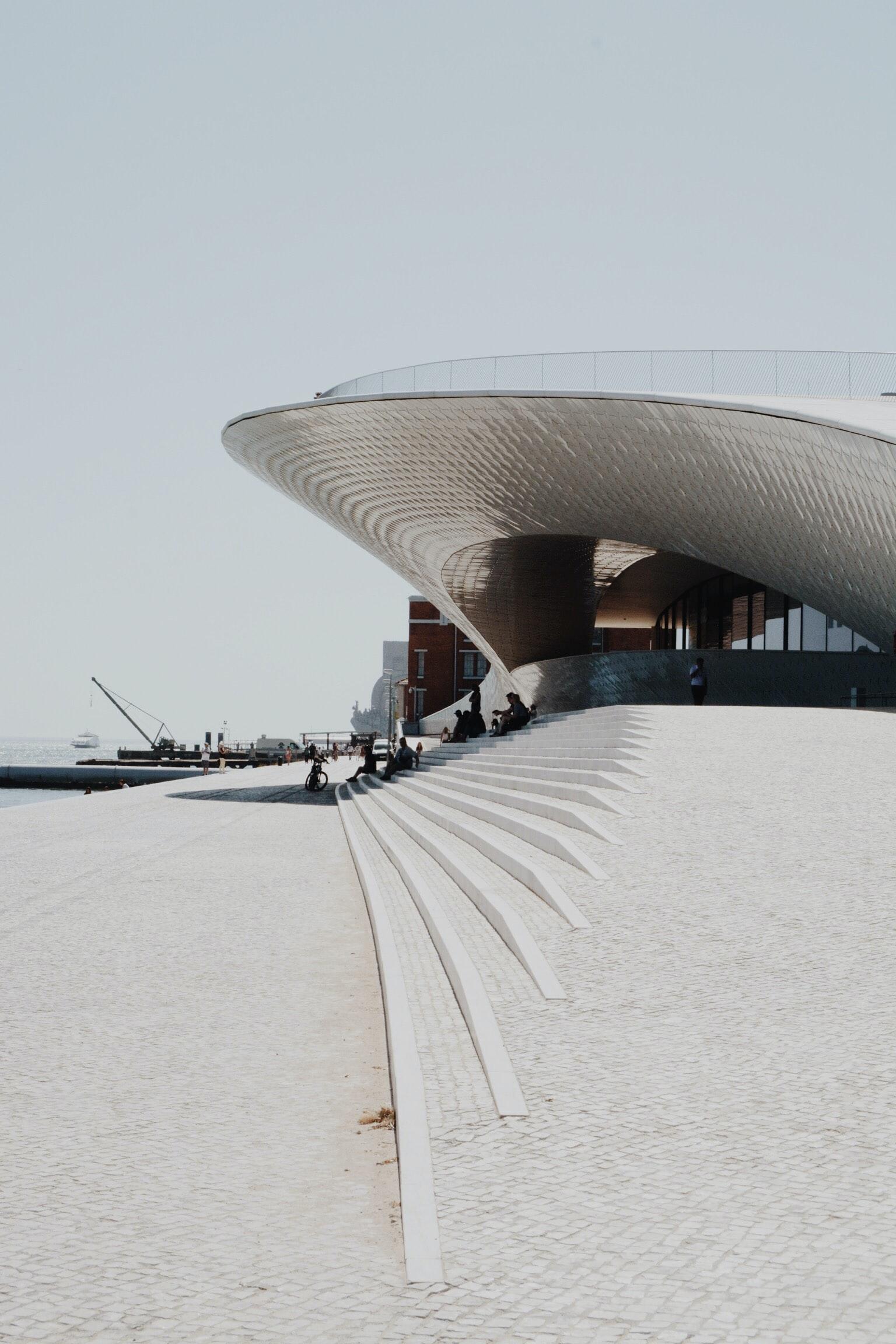 Fachada del MAAT de Lisboa