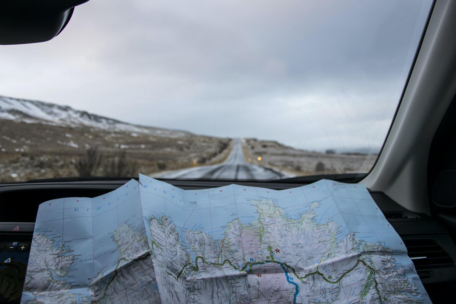 Mapa en el coche