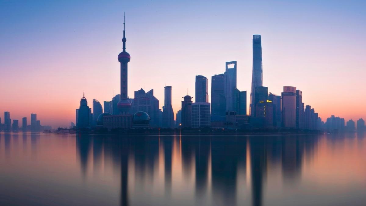 Atardecer en Shanghái
