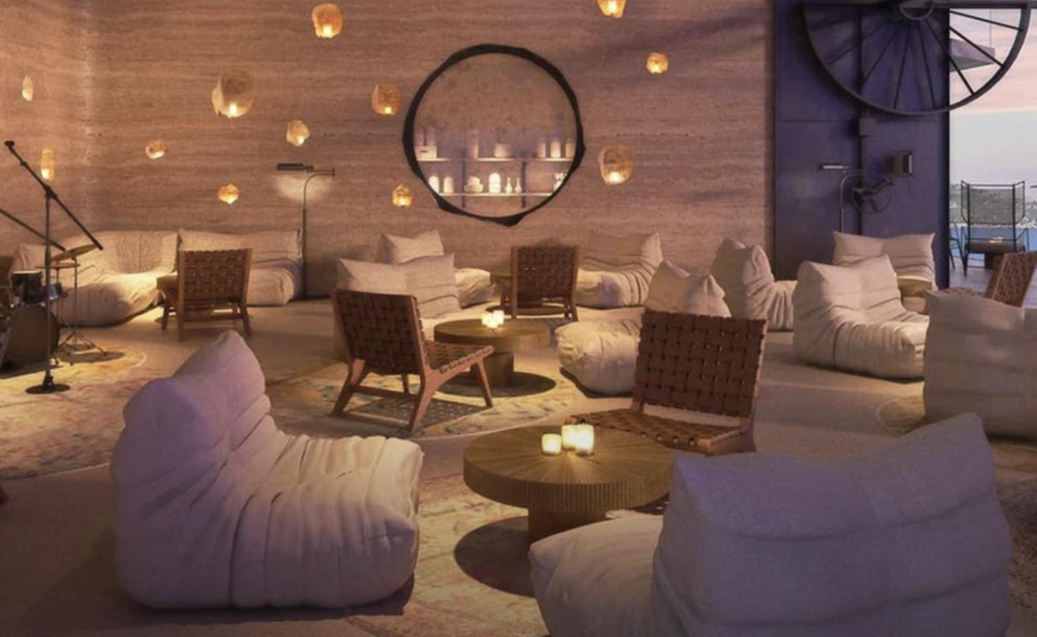 Interior del hotel Six Senses Ibiza