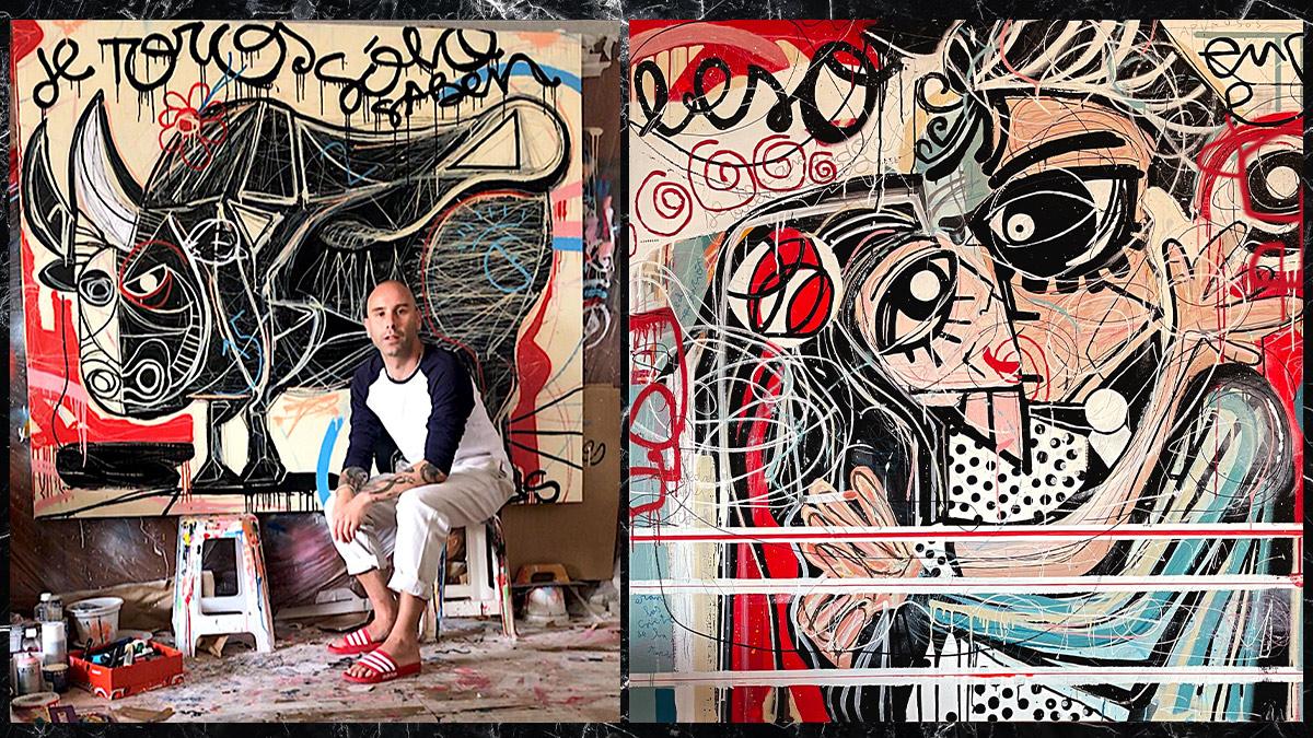 El artista Miguel Caravaca