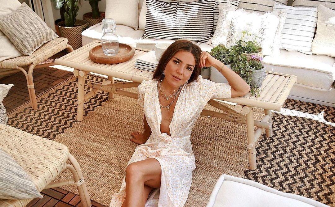 Paula Ordovás en su terraza