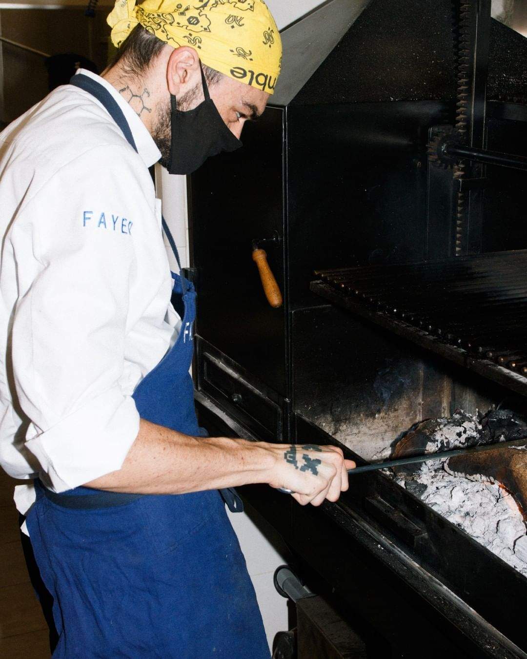 Cocinero en la cocina de Fayer