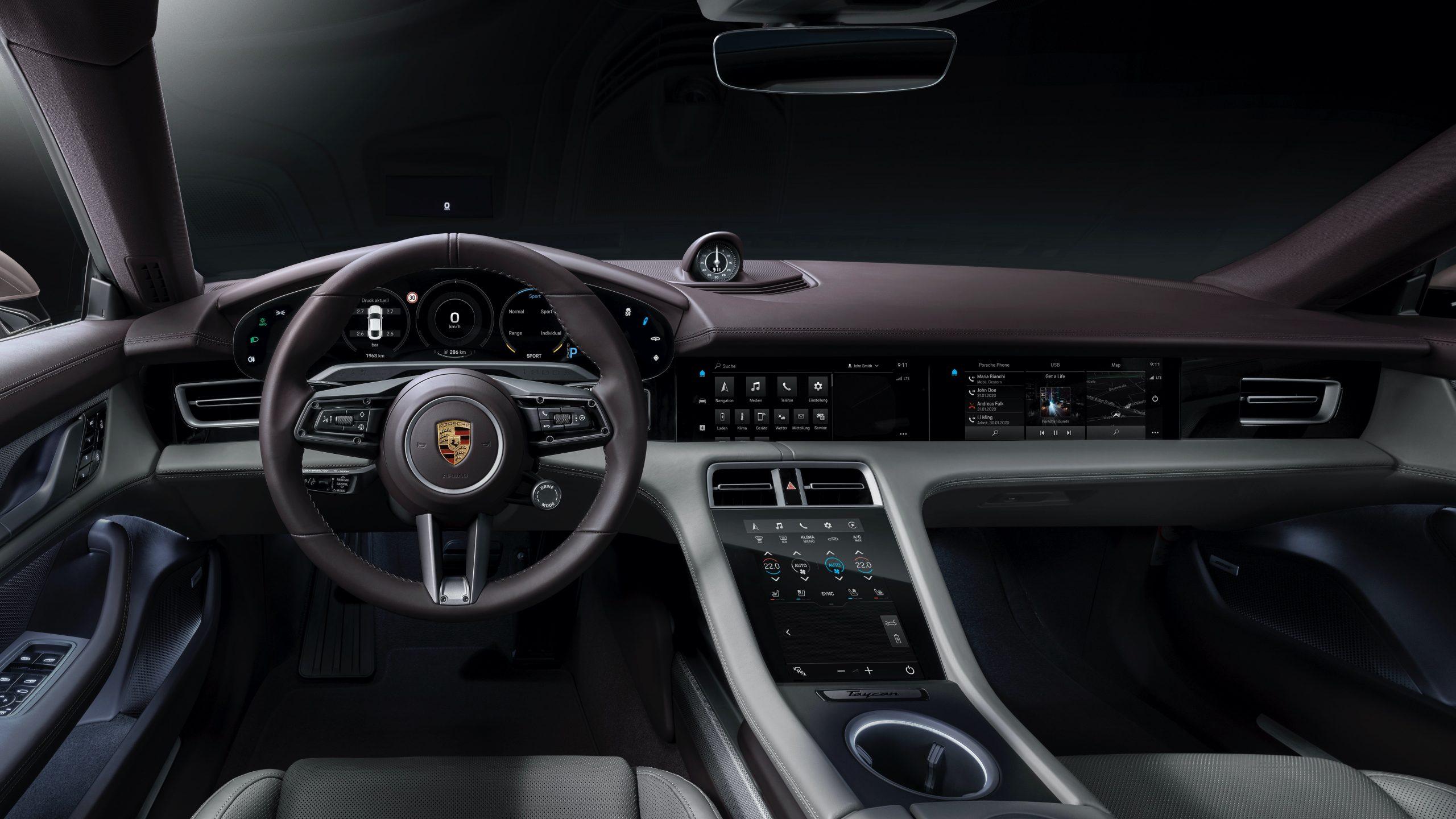 Interior del nuevo Taycan/Foto: Porsche