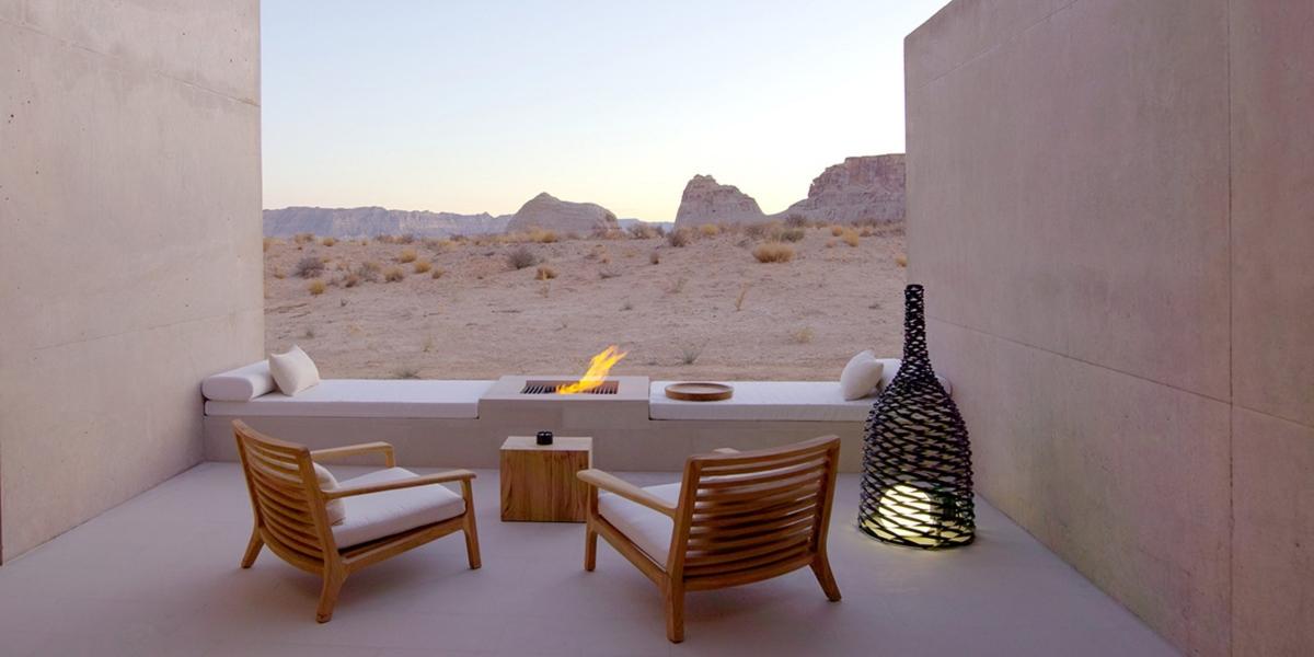 Vistas al desierto en el lounge