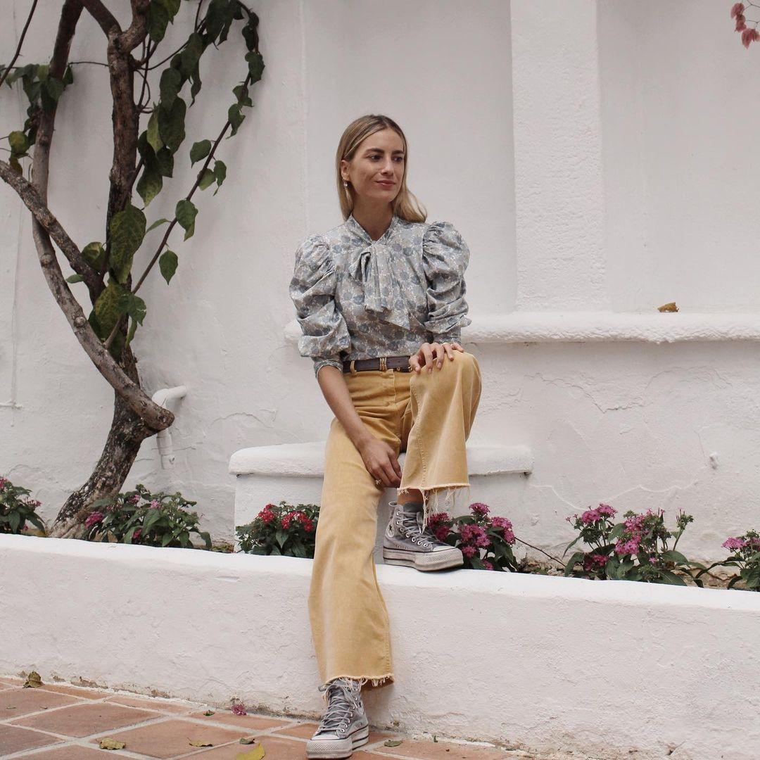 Carmen de la Puerta con blusa de Vogana