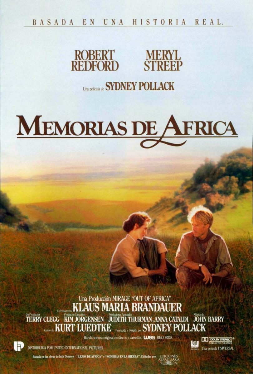 Cartel de la película Memorias de África