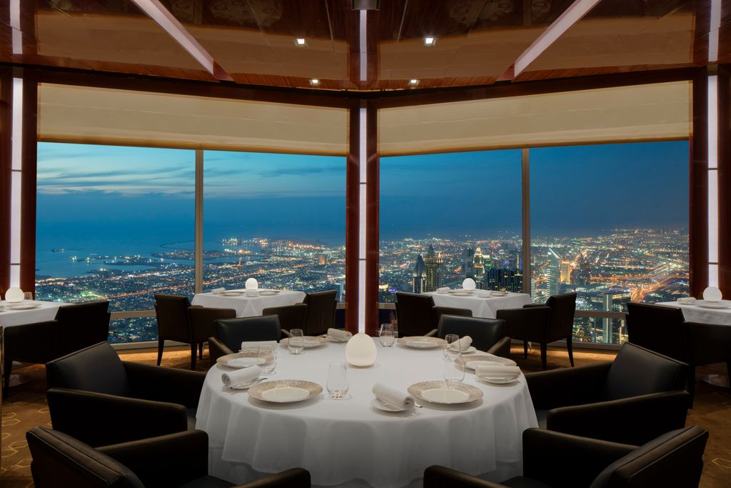 El restaurante At.mosphere de Dubái/Foto: Turismo de Dubái
