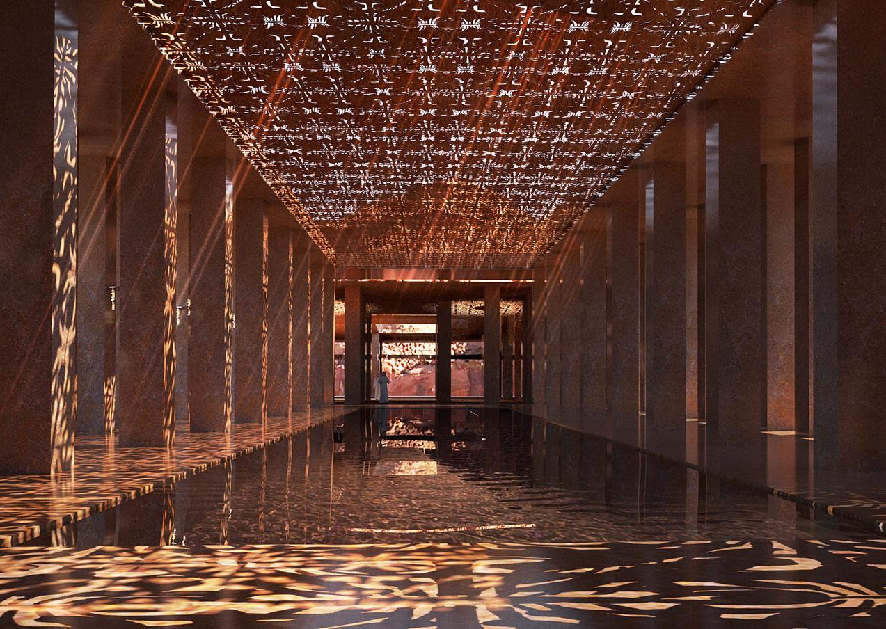 Renderización del interior de Sharaan/Foto: Jean Nouvel