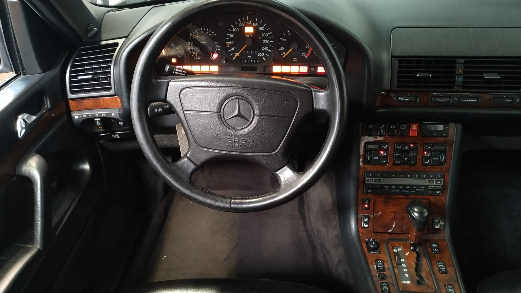 Interior del Mercedes S W140/Foto: Sergio Fernández Mate