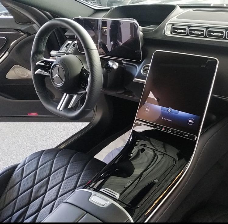 Interior de la nueva Clase S de Mercedes/Foto: Rafael Chelala