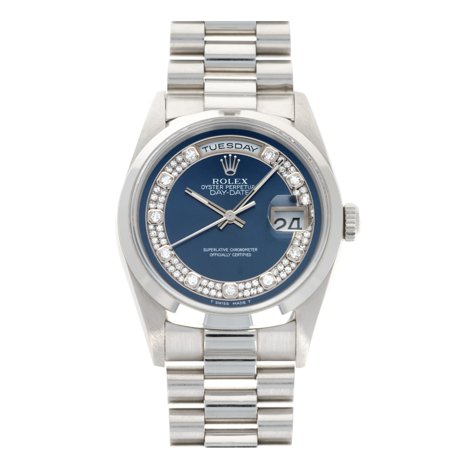 Rolex Day Date ref 18206 en platino