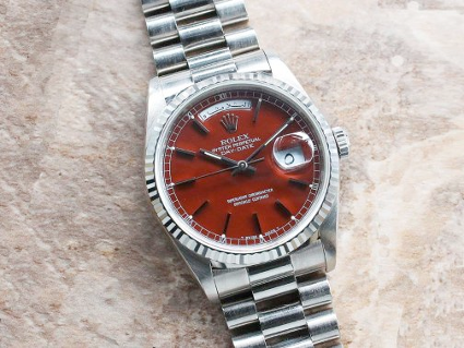 Rolex day date ref 18030 con disco y fech en árabe