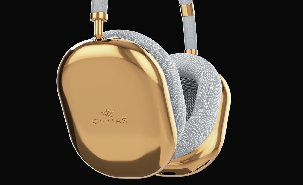 AirPods Max de Caviar bañados en oro