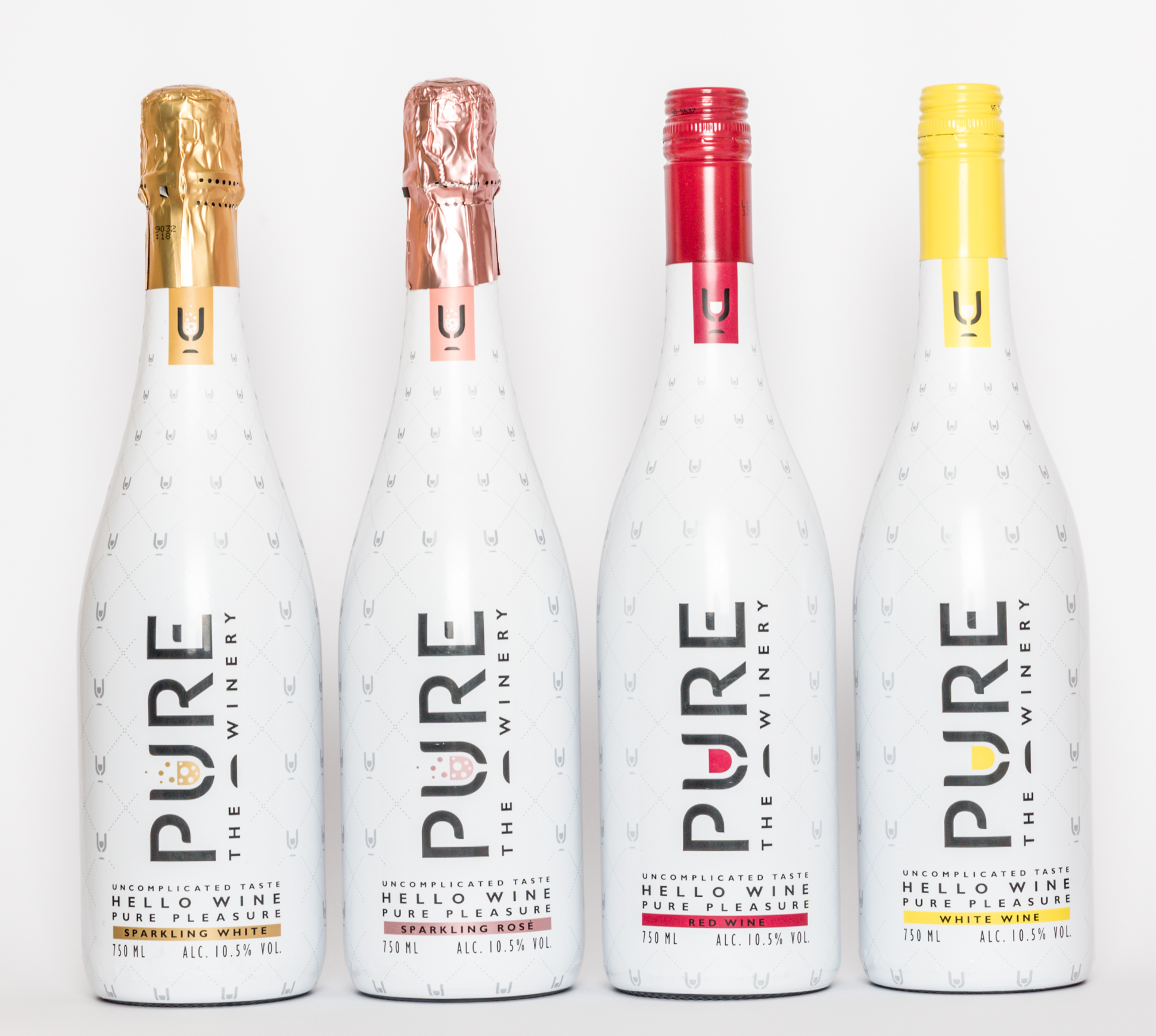 Foto de familia de las 4 variedades/Foto: PURE The Winery