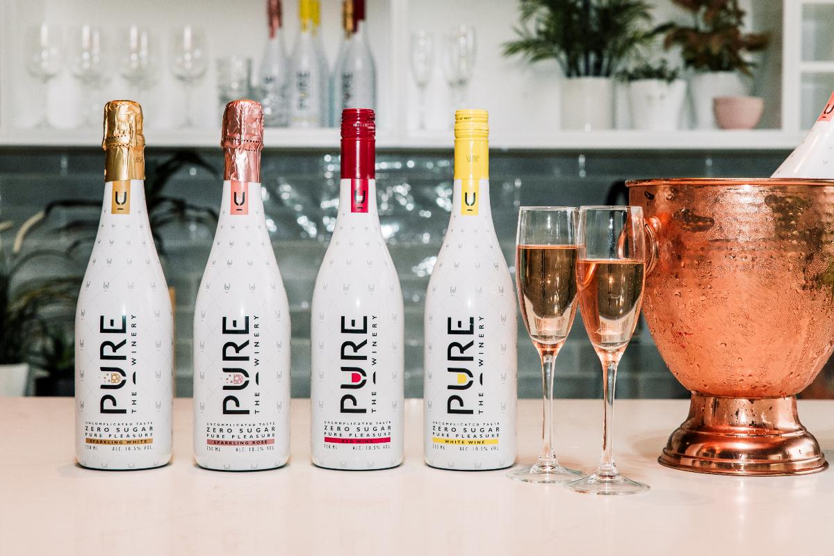 Las 4 variedades de PURE The Winery